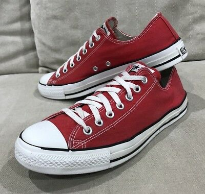 Converse All Star Red Mens US 10 Womens 12 Authentic Chuck Taylor Shoe Sneaker