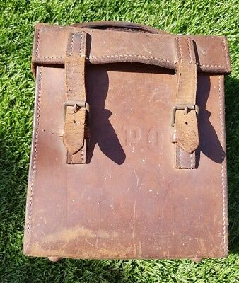 vintage gpo ammeter leather case upcycle antique