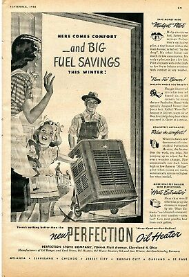 1948 Print Ad of Perfection Stove Co Farm Oil Heater