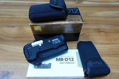 Nikon MB D12 - Good Condition Complete with Box and Spare Battery Tray