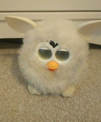 HASBRO 2012 Furby BOOM White Talking Soft Interactive Toy (Tested)