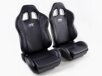 FK Sportsitze Auto Halbschalensitze Set New York schwarz in Motorsport-Optik
