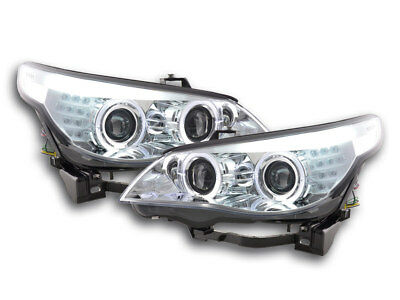Scheinwerfer Angel Eyes LED Xenon BMW 5er E60/E61 Bj. 05-08 chrom