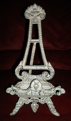 Vintage Victorian Ornate Cast Iron Picture, Photo Easel, Tabletop