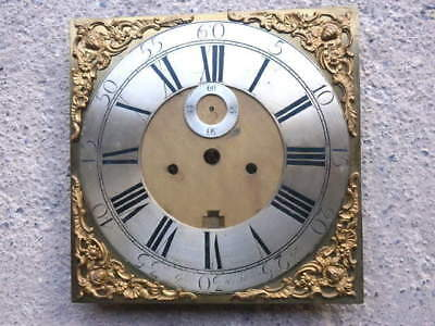 12 inch  LONGCASE GRANDFATHER CLOCK brass dial