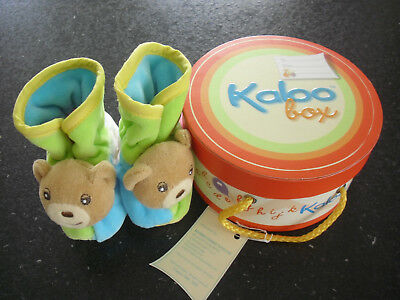 New Kaloo Baby Bear Rattle Bootees