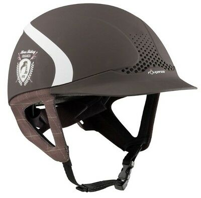 FOUGANZA Safety Jump Horse Riding Hat - Brown