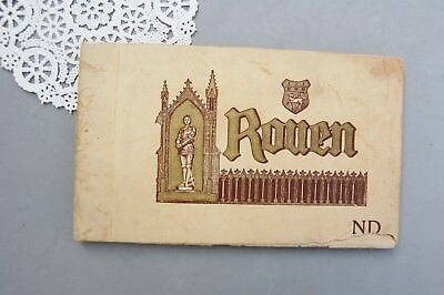 Rouen France Antique 18 Plated Etching Book Levy & Neurdein St Joan Arc Ca. 1920