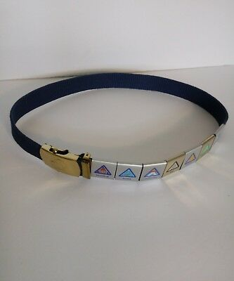"BSA BOY SCOUTS OF AMERICA TIGER CUB WEB BELT W/Brass BUCKLE, SLIDE  30"" WAIST"