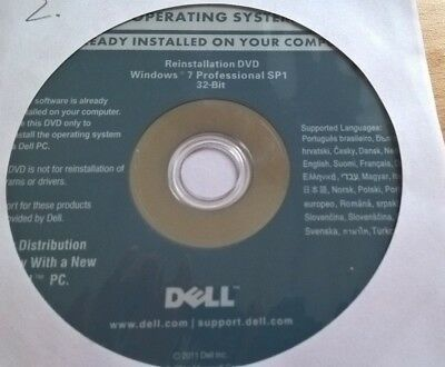 Windows 7 Professional 32-Bit SP1 Installations-DVD von DELL in OVP - TOP