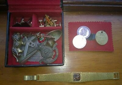 joblot unusual bits hallmarked silver ghurka collectables boxed leather