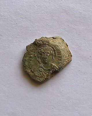 Byzantine Lead Seal/bleisiegel Of Justinian I (527-565). Excellent Piece Of Art!