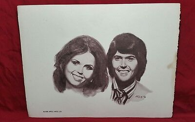 ULTRA RARE DONNY & MARIE OSMOND Limited Edition Lithograph 1976 Apple Arts LTD