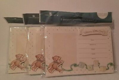 New American Greetings 3 Packs of 8 Birth Announcements 24 Decorative Stickers