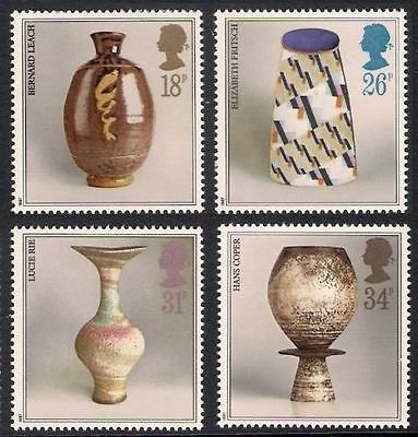 Sg1371-1374 1987 Pottery ~ Unmounted Mint Gb