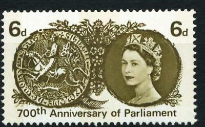 SG663p 1965 6d 700th PARLIAMENT PHOSPHOR~ UNMOUNTED MINT GB.