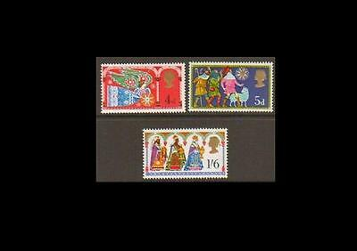 SG812-814 1969 XMAS Unmounted Mint GB
