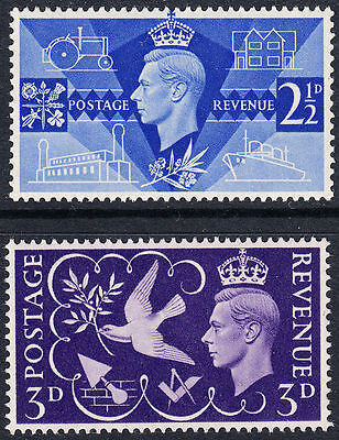 SG491/2 1946 VICTORY Unmounted Mint GB