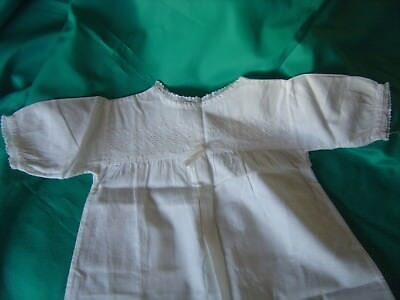 "Vintage Cotton Baby Nightdress Embroidery and Lace Chest 21"" Length 26"""