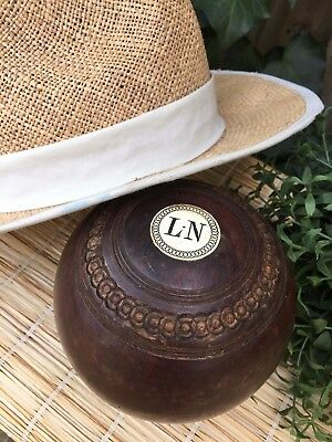 Old Vintage Decorative Mounted Bowling Green Bowl Paperweight/ornament