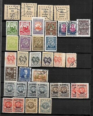 LITAUEN NICE COLLECTION WITH MANY EARLY STAMPS/ OVERPRINT KLAIPEDA etc LOOK PIC.