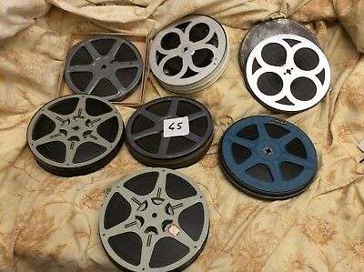 Vintage 16mm b+w, silent and sound films. Mixed variety. 7 x reels. Lot 45