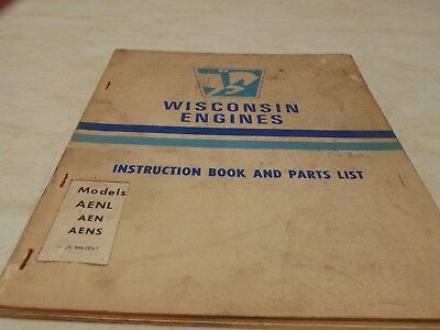 Manual. Wisconsin Engines. Instruction Book Models Aenl, Aen, And Aens