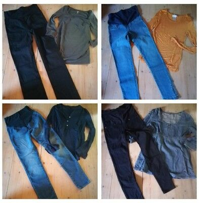 Umstandsmode Paket *4 Outfits* H&M vertbaudet 34 36 XS S Jeans Shirts TOP