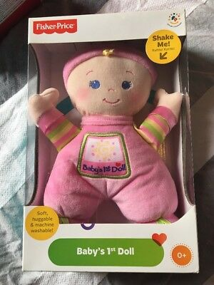 BNIB Fisher Price Pink Soft Doll Baby's First Doll