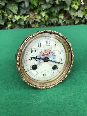 Antique A.D Mougin Clock Movement With Face & Bezel, Spares/Repair