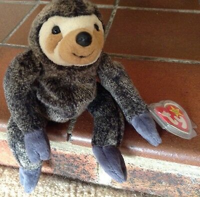 a801f88a774 Ty Beanie Baby. Slowpoke the Sloth with Tag. - Retired. Excellent Condition