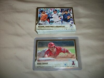 Lot of 41 Topps 2015 Gold Insert Cards/Trout, Pedroia, Kershaw,,,,,,,,
