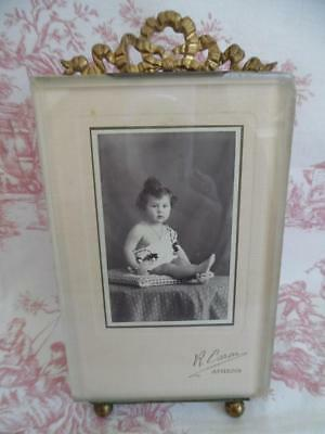 DIVINE ANTIQUE FRENCH PCTURE / PHOTO FRAME with Bevelled Glass