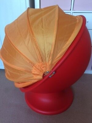 Excellent Ikea Ps Lomsk Swivel Pod Egg Chair Red Orange Children Andrewgaddart Wooden Chair Designs For Living Room Andrewgaddartcom