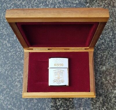 Zippo D Day 50 Year Anniversary Normandy Limited Edition Silver Plate Gold Inlay