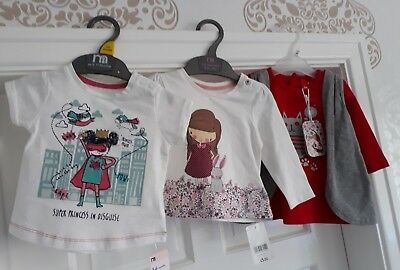*bnwt* Lovely Baby Girls Tops Bundle 3+ Months. Caprice De Star & Mothercare