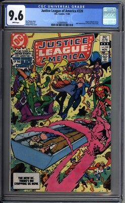 Justice League of America 220 CGC Graded 9.6 NM+ Black Canary DC Comics 1983