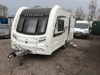 Coachman 460 VIP2 birth caravan 2015 mint condition inside out two years warente