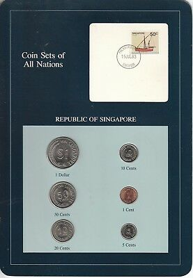 Coins of All Nations Set - Singapore - 6 Coins - 1981-82