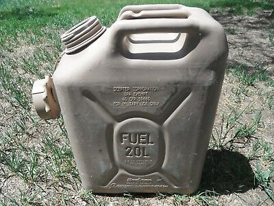 SCEPTER Sahara Sand Tan Jerry Gas Can Fuel REAL Military MFC 5gal 20L JEEP  ARMY