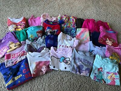 Girls Size 4T Lot Of Summer Clothes 28 Pieces, Nike, Disney, Etc.