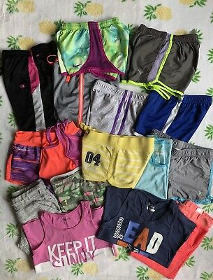 Lot of 16 Girls Summer Active Clothing, Size  8, Nike, Justice, Old Navy, etc.