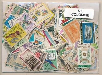 Colombia US 500 stamps different