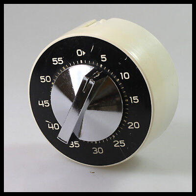 vintage Germany KIENZLE White Black Metal Kitchen Mechanical Wind up Egg Timer