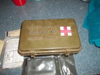 Vintagw First Aid Kit General Purpose Army Military 6545-00-922-1200/FREE SHIP