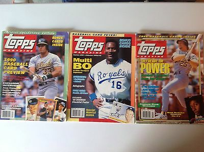Lot Of 3 Topps Magazines, Stars On Covers, Includes Premiere Issue,