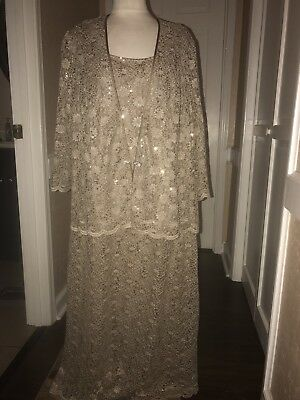 R&M Richards Mother Of Bride Or Groom Formal Lace Dress Sz 22W EUC Wedding