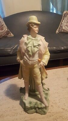 "Antique LARGE 16"" French Porcelain Vion & Baury Statues Bisque 19th Century"