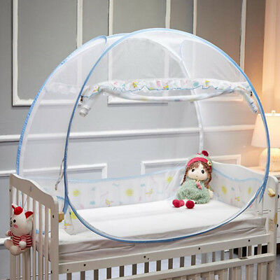 Baby Foldable Mesh Mosquito Net Yurt Toddler Canopy Play Tent Foldable Portable