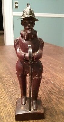 ANTIQUE SPANISH WOOD CARVING SCULPTURE CIRCLE OF DIEGO  !!!  Folk Art !!!